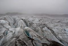 Glacier fog Stock Images
