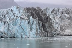 Glacier ford near elusion Islands Alaska royalty free stock images
