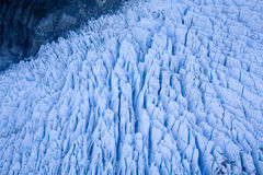 Glacier formation. Ariel view of New Zealands Fox glaciers ice formation Royalty Free Stock Images
