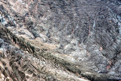 Glacier in French Alps. A glacier in the french Alps near Chamonix and the Mont-Blanc Royalty Free Stock Image