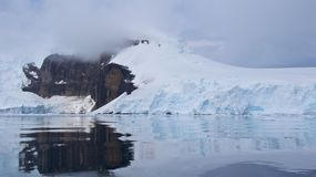 Glacier on Gerlache Strait in Antarctica Royalty Free Stock Photography