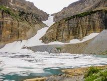 Frozen mountain lake Stock Photos