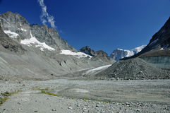 Glacier and global warming Royalty Free Stock Photo