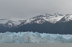 GLACIER AND GLOBAL WARMING PERITO MORENO IN EL CALAFATE PATAGONIA ARGENTINA. GLACIERS AND CLIMATE CHANGE stock images