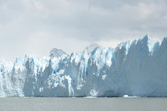 GLACIER AND GLOBAL WARMING PERITO MORENO IN EL CALAFATE PATAGONIA ARGENTINA Royalty Free Stock Image