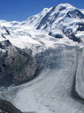 Glacier of  Gornergrat mountain in Switzerland Royalty Free Stock Photo