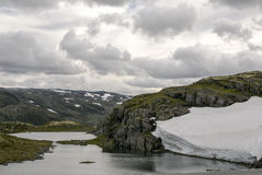 Glacier in the grasslands of southern Norway Royalty Free Stock Images