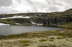 Glacier in the grasslands of southern Norway Royalty Free Stock Photography