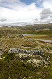 Glacier in the grasslands of southern Norway Stock Photography