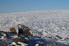 Glacier in Greenland. Close to the ice cap Royalty Free Stock Images