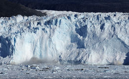 Glacier in Greenland 2. Eqi glacier 80 km from Ilulissat, West Greenland stock image