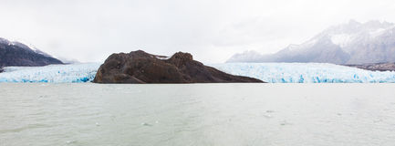 Glacier grey panorama Royalty Free Stock Photos