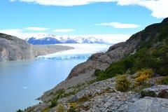 Glacier gris à l'intérieur du parc national de Torres del Paine, Chili Photo stock
