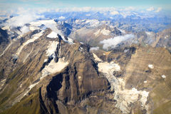 Glacier at Großglockner massif - aerial view Royalty Free Stock Photos