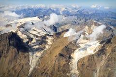 Glacier at Großglockner massif - aerial view Royalty Free Stock Photo