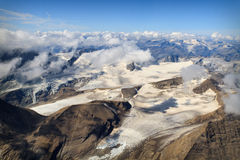 Glacier at Großglockner massif - aerial view Royalty Free Stock Image