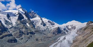 Glacier on Grossglockner. Austria. Panorama Stock Images
