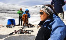Glacier hike Stock Images