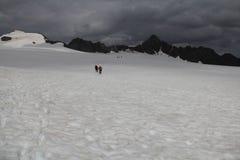 Glacier hike, Fluchtkogel, Otztal alps, Austria Stock Photo