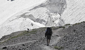 Glacier Hike Royalty Free Stock Images