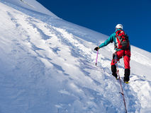 Glacier hike Royalty Free Stock Photo