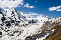 Glacier of Hohe Tauern National Park Austria. In early may royalty free stock images