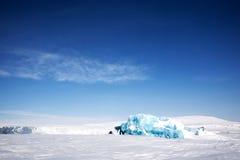 Glacier Ice. Frozen ocean and glacier ice on the coast of Spitsbergen Island, Svalbard, Norway stock photo