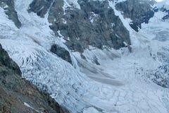 Glacier ice blocks falling Royalty Free Stock Photo