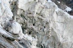 Glacier ice blocks falling Royalty Free Stock Photos