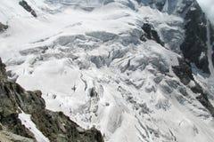 Glacier ice blocks falling Stock Photography