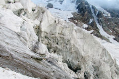 Glacier ice blocks falling Royalty Free Stock Image