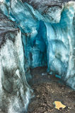 Glacier ice cave Royalty Free Stock Images