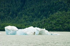 Glacier Ice in Juneau Alaska Stock Photography