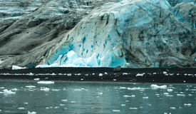 Glacier Ice Kenai Fjords Alaska United States stock images