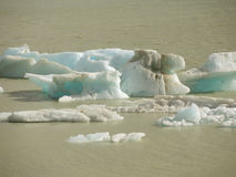 Glacier ice. In the lake Torre, Argentina Stock Images