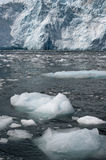 Glacier ice in ocean Stock Photo