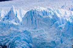 Glacier Ice in Patagonia. Glacier Ice, Glaciar Perito Moreno, Parque Nacional Los Glaciares Stock Photo
