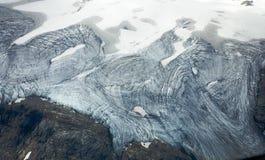 Glacier Ice. Photo of the glacier ice at Kootenay Glacier in British Columbia Stock Photo
