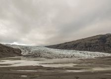 Glacier ice and snow are melting, Vatnajokull National Park, Southern Iceland, Europe stock images