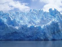 Glacier Ice, Southern Chile. Glacier ice makes its way to the river in the Patagonia region of southern Chile Royalty Free Stock Photography