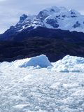 Glacier Ice, Southern Chile. Glacier ice makes its way to the sea in the Patagonia region of southern Chile Stock Photos