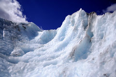 Glacier ice wall. A wall of ice on the Franz-Joseph glacier, South Island, New Zealand Royalty Free Stock Photography