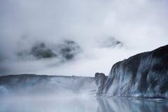 Glacier iceberg in the mist Stock Photos