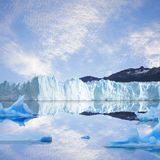 Glacier and icebergs. Royalty Free Stock Photos
