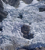 Glacier icefall in high Andes Stock Images