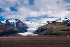 Glacier in Iceland. A beautiful glacier in Skaftafell National Park, Iceland Royalty Free Stock Images