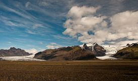 Glacier in Iceland. A beautiful glacier in Skaftafell National Park, Iceland stock image