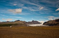 Glacier in Iceland. A beautiful glacier in Skaftafell National Park, Iceland Stock Photography