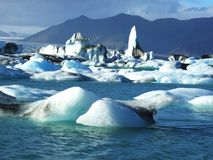 Glacier in Iceland Stock Photo