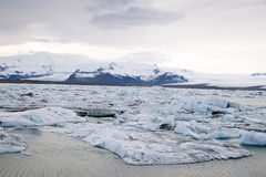 Glacier in Iceland. Glaciers in South Iceland near the town of Vik Stock Photo